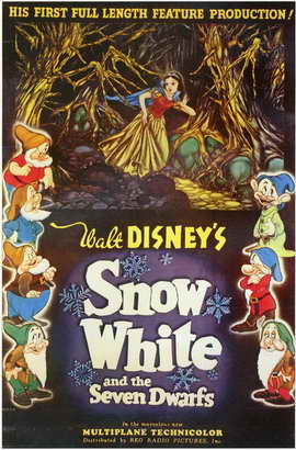 Snow White and the Seven Dwarfs - 11 x 17 Movie Poster - Style AA