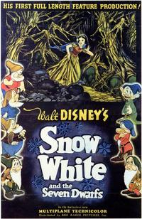 Snow White and the Seven Dwarfs - 11 x 17 Movie Poster - Style D