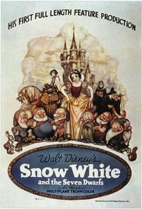 Snow White and the Seven Dwarfs - 11 x 17 Movie Poster - Style E
