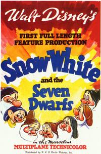 Snow White and the Seven Dwarfs - 11 x 17 Movie Poster - Style F