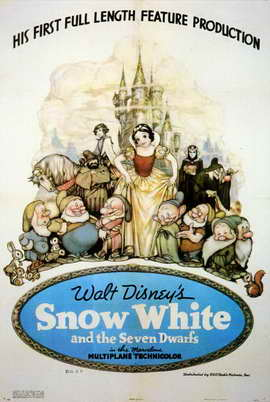 Snow White and the Seven Dwarfs - 11 x 17 Movie Poster - Style H