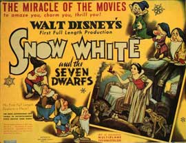 Snow White and the Seven Dwarfs - 11 x 14 Movie Poster - Style I