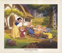 Snow White and the Seven Dwarfs - 11 x 14 Movie Poster - Style J