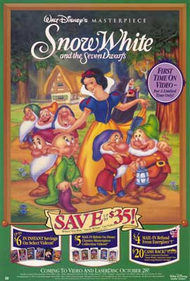 Snow White and the Seven Dwarfs - 27 x 40 Movie Poster - Style B