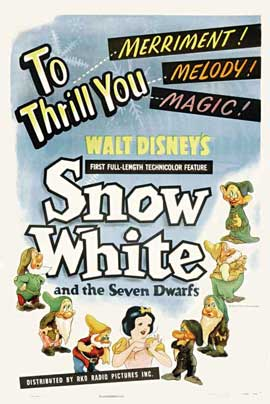 Snow White and the Seven Dwarfs - 11 x 17 Movie Poster - Style I