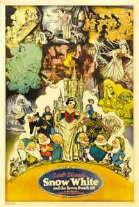 Snow White and the Seven Dwarfs - 11 x 17 Movie Poster - Style J