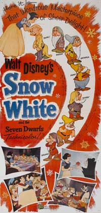 Snow White and the Seven Dwarfs - 11 x 17 Movie Poster - Style K