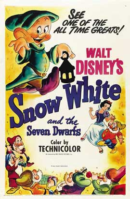 Snow White and the Seven Dwarfs - 27 x 40 Movie Poster - Style G