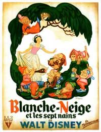 Snow White and the Seven Dwarfs - 11 x 17 Movie Poster - French Style A