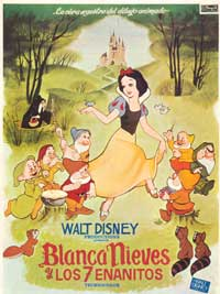 Snow White and the Seven Dwarfs - 11 x 17 Movie Poster - Spanish Style A
