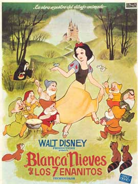 Snow White and the Seven Dwarfs - 27 x 40 Movie Poster - Spanish Style A