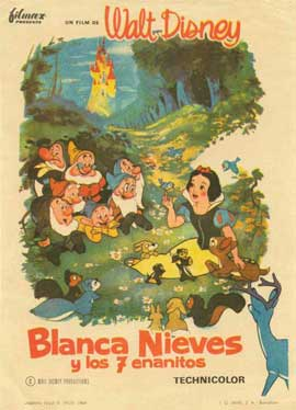 Snow White and the Seven Dwarfs - 11 x 17 Movie Poster - Spanish Style B