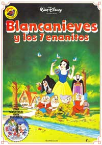 Snow White and the Seven Dwarfs - 11 x 17 Movie Poster - Spanish Style D