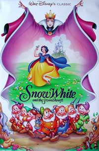 Snow White and the Seven Dwarfs - 11 x 17 Movie Poster - Style M