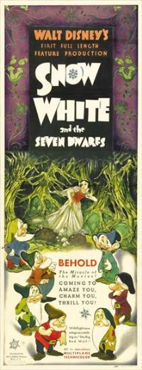 Snow White and the Seven Dwarfs - 14 x 36 Movie Poster - Insert Style A