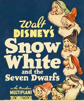 Snow White and the Seven Dwarfs - 11 x 17 Movie Poster - Style O