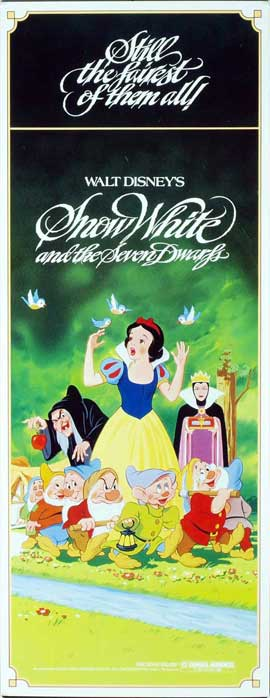 Snow White and the Seven Dwarfs - 14 x 36 Movie Poster - Insert Style B