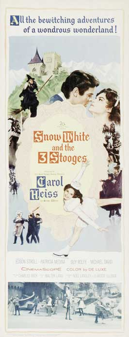 Snow White and the Three Stooges - 14 x 36 Movie Poster - Insert Style A