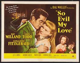 So Evil My Love - 11 x 14 Movie Poster - Style A