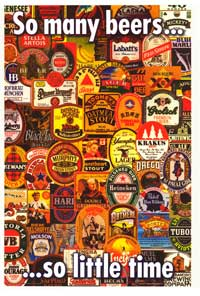 So Many Beers So Little Time - Party/College Poster - 24 x 36 - Style A