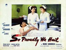 So Proudly We Hail - 11 x 14 Movie Poster - Style A