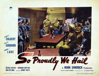 So Proudly We Hail - 11 x 14 Movie Poster - Style B