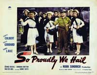 So Proudly We Hail - 11 x 14 Movie Poster - Style D
