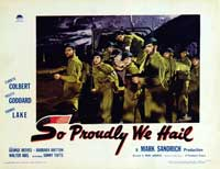So Proudly We Hail - 11 x 14 Movie Poster - Style E