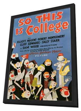 So This Is College - 11 x 17 Movie Poster - Style B - in Deluxe Wood Frame