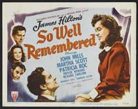 So Well Remembered - 11 x 14 Movie Poster - Style A