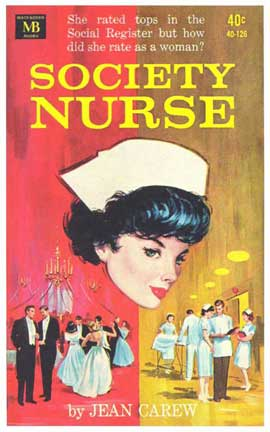 Society Nurse - 11 x 17 Retro Book Cover Poster