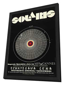 Solaris - 11 x 17 Movie Poster - Polish Style A - in Deluxe Wood Frame