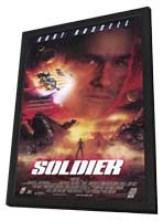 Soldier - 11 x 17 Movie Poster - Style A - in Deluxe Wood Frame