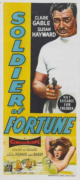 Soldier of Fortune - 13 x 30 Movie Poster - Australian Style A