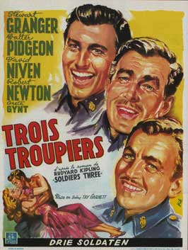 Soldiers Three - 11 x 17 Movie Poster - Belgian Style A