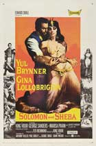 Solomon and Sheba - 11 x 17 Movie Poster - Style E