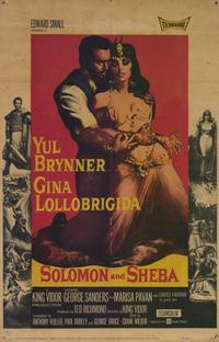 Solomon and Sheba - 11 x 17 Movie Poster - Style A