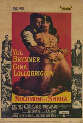 Solomon and Sheba - 27 x 40 Movie Poster - Style A