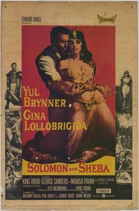 Solomon and Sheba - 43 x 62 Movie Poster - Bus Shelter Style A