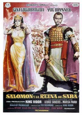 Solomon and Sheba - 11 x 17 Movie Poster - Spanish Style A