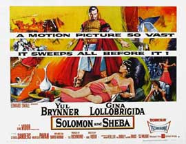 Solomon and Sheba - 11 x 17 Movie Poster - Style C
