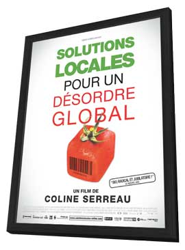 Solutions locales pour un desordre global - 11 x 17 Movie Poster - French Style A - in Deluxe Wood Frame