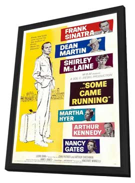 Some Came Running - 27 x 40 Movie Poster - Style A - in Deluxe Wood Frame