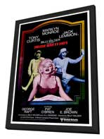Some Like It Hot - 27 x 40 Movie Poster - Style A - in Deluxe Wood Frame