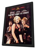 Some Like It Hot - 27 x 40 Movie Poster - Style C - in Deluxe Wood Frame