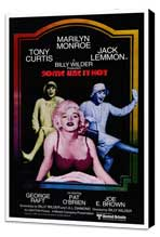 Some Like It Hot - 27 x 40 Movie Poster - Style A - Museum Wrapped Canvas