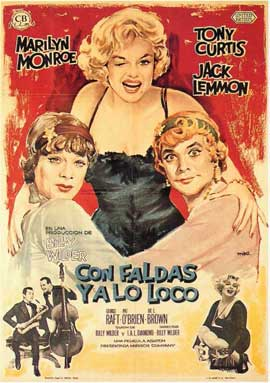 Some Like It Hot - 11 x 17 Movie Poster - Spanish Style A