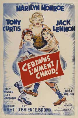 Some Like It Hot - 11 x 17 Movie Poster - French Style A