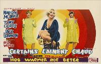 Some Like It Hot - 27 x 40 Movie Poster - Belgian Style A