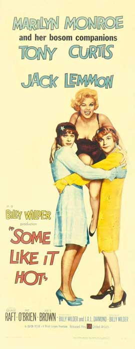 Some Like It Hot - 14 x 36 Movie Poster - Insert Style B